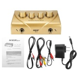 Mã Khuyến Mại Nkr Karaoke Sound Mixer Echo Dual Mic Inputs With Cable For Stage Home Ktv 12V Gold Intl Not Specified Mới Nhất