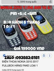 Bán Nokia 3310 Tặng Sim 10 Số Rẻ Hồ Chí Minh