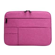 Hình ảnh Nylon Chống Thấm Nước Túi Đựng Laptop Bảo Vệ Khóa Kéo Bao 13.3in Máy Tính Bảng (Hoa Hồng)-quốc tế