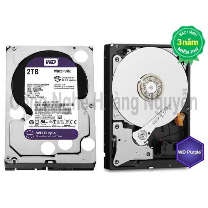 Ổ cứng chuyên dụng cho Camera HDD Western Purple 2TB WD20PURZ (Tím)