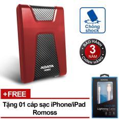 Cửa Hàng Bán Ổ Cứng Di Động 3 1Tb Chống Sốc Adata Hd650 Đỏ Tặng Cap Iphone Ipad