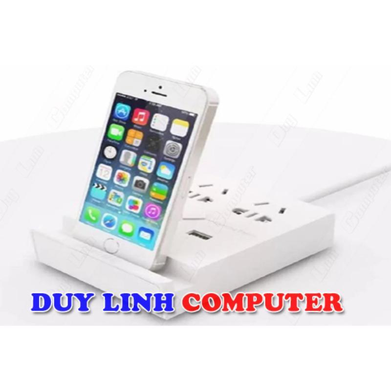 Ổ Điện Đa Năng Ugreen 20346 Tích Hợp Cổng Sạc USB, Khay Để Điện Thoại, Máy Tính Bảng