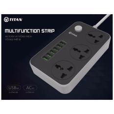 Hình ảnh Ổ điện thông minh 6 cổng USB Titan CD01