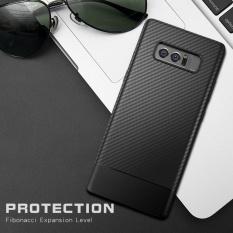 Oh Mềm Mại Ốp Lưng Sợi Carbon Danh Cho Samsung Galaxy Note 8 Chống Sốc Điện Thoại Tpu Mau Đen Quốc Tế Rẻ