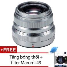 Ống Kinh Fujifilm Xf 35Mm F 2 Wr Silver Tặng 1 Bong Thổi Va 1 Filter Marumi 43 Hang Phan Phối Chinh Thức Hà Nội Chiết Khấu 50