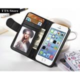 Ôn Tập Ốp Bao Da Kiem Vi Đựng Tiền Thẻ Atm Cho Iphone 6 6S Tts2 Đen Oem