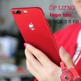 Ốp lưng cao cấp cho iPhone 6/6S đỏ khắc táo sang trọng - tặng 300k khi mua tròng zeiss VN