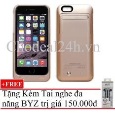Mua Ốp Lưng Cho Iphone 6 Plus Kiem Pin Sạc Dự Phong 4200 Mah Vang Tặng Tai Nghe Byz S389 Đen Oem Nguyên