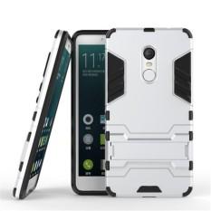Hình ảnh Ốp lưng chống sốc Iron Man kiêm giá đỡ điện thoại 2in1 cho Xiaomi Redmi Note 4X (Bạc)