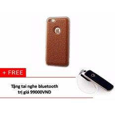 Bán Ốp Lưng Da Viền Nhom Mau Nau 6 Plus Tặng Tai Nghe Bluetooth Có Thương Hiệu Rẻ