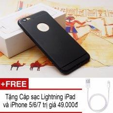 Giá Ốp lưng dẻo giả iPhone 7 cho iPhone 5/5S/5SE (Đen Nhám) + Tặng cáp sạc Lightning