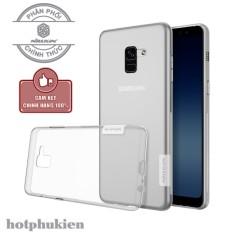Ốp lưng dẻo Nillkin cao cấp cho Samsung Galaxy A8 Plus 2018 mỏng 0.6mm hạn chế ố vàng đối chống trầy tuyệt - phân phối hotphukien