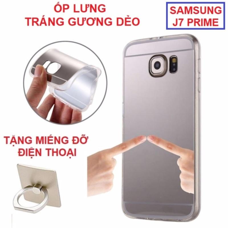 Giá Ốp lưng dẻo tráng gương SS Galaxy J7 Prime đẹp lung linh (tặng miếng đỡ điện thoại)