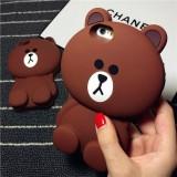 Bán Ốp Lưng Điện Thoại Hinh Gấu Brown Của Iphone 5 Va 5S Dễ Thương H11 Nau Có Thương Hiệu
