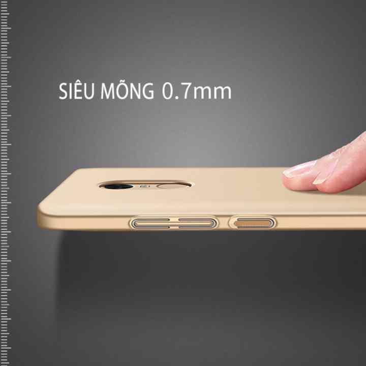 Ốp lưng dùng cho Redmi Note 4X - iWot nhựa PC cứng - nhám, chống vân tay
