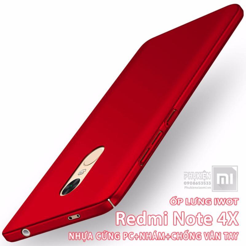 Giá Ốp lưng dùng cho Redmi Note 4X - iWot nhựa PC cứng - nhám, chống vân tay
