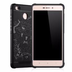 Giá Bán Ốp Lưng Hoa Văn Cho Xiaomi Redmi 3X Đen Nguyên
