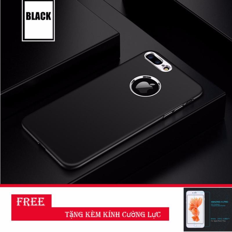 Giá Ốp lưng iphone 7PLUS silicon cao cấp bảo vệ camera ( Đen ) + Tặng kèm cường lực