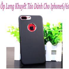 Ốp Lưng Khuyết Táo (đen xám) Dành Cho Iphone6/6s Hàng Chất Lượng Loại 1