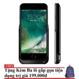 Mua Ốp Lưng Kiem Pin Sạc Dự Phong Cho Iphone 7 7S Đen Tặng Kem Balo Du Lịch Gấp Gọn Mới