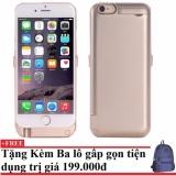 Mã Khuyến Mại Ốp Lưng Kiem Pin Sạc Dự Phong Iphone 6 Plus 6S Plus Vang Tặng Kem Balo Du Lịch Gấp Gọn Trong Hồ Chí Minh