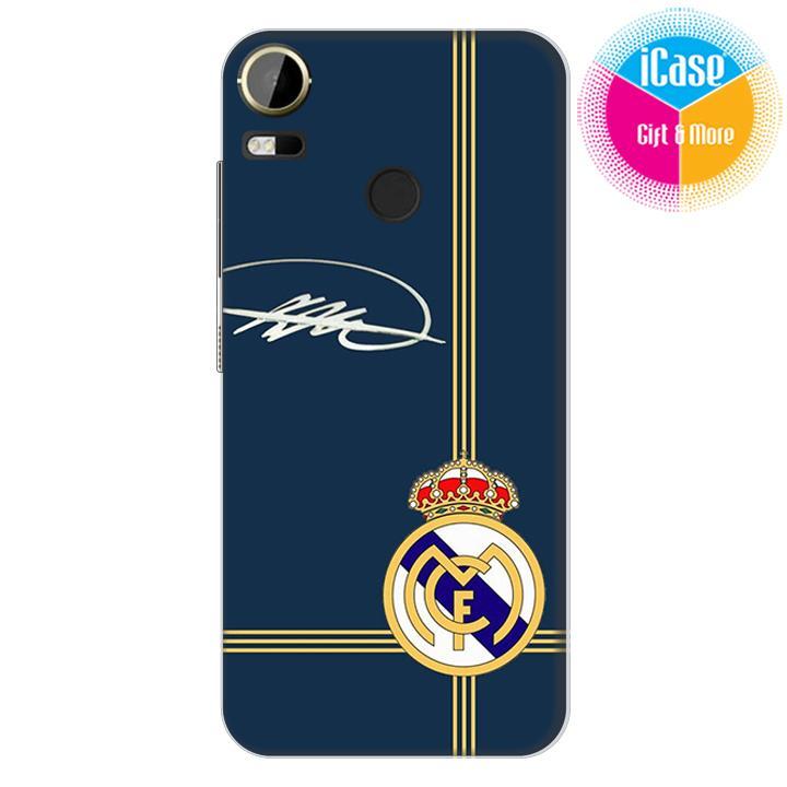 Hình ảnh Ốp lưng nhựa dẻo Silicone iCase Color dành cho HTC Desire 10 Pro in Logo CLB Real Madrid Mẫu 10