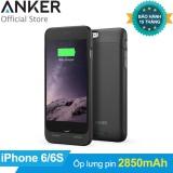 Mua Ốp Lưng Kiem Pin Dự Phong Anker 2850Mah Ultra Slim Battery Case Cho Iphone 6 6S Đen Hang Phan Phối Chinh Thức