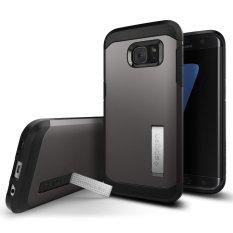 Giá Bán Ốp Lưng Samsung Galaxy S7 Edge Spigen Tough Armor Xam Mới Rẻ