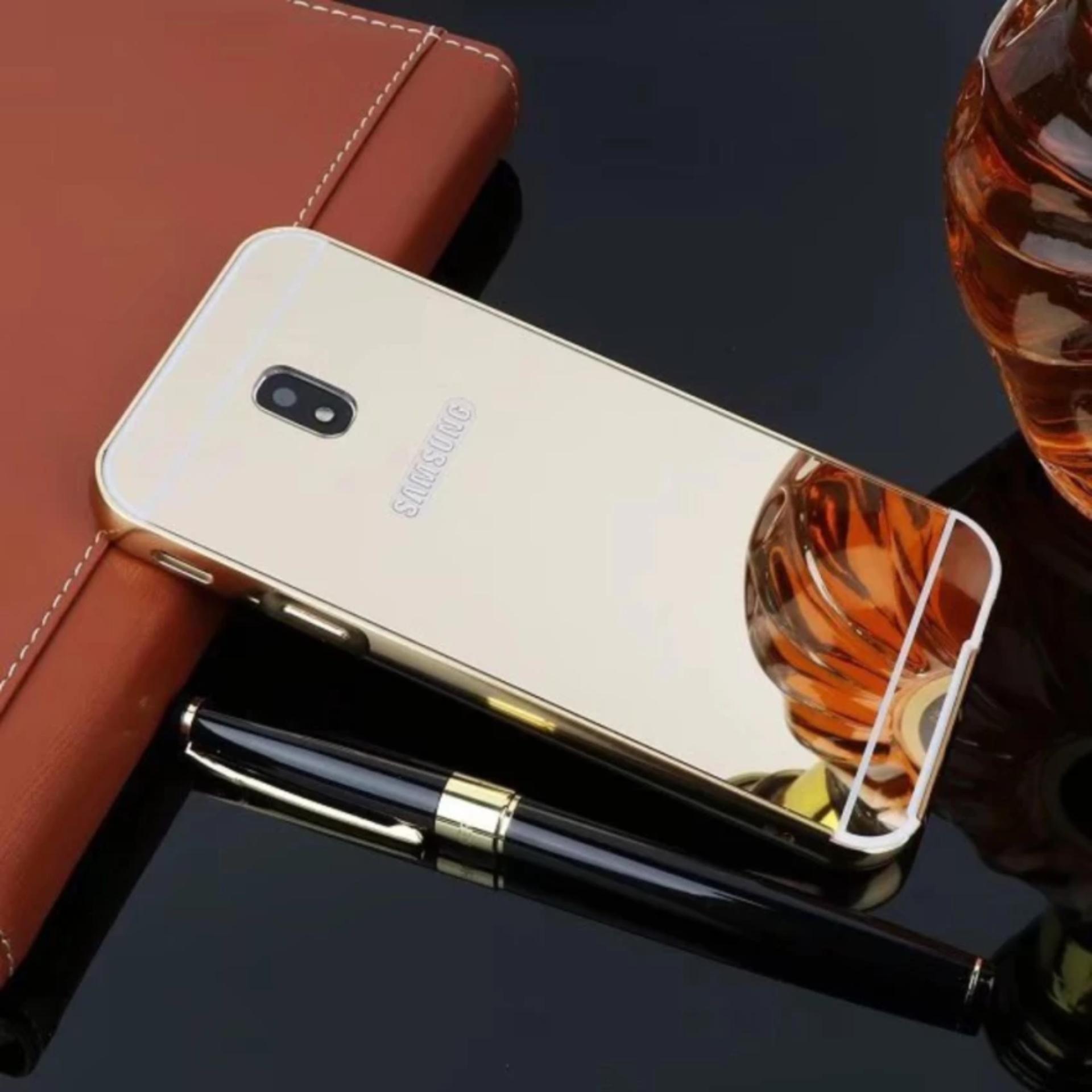 Hình ảnh Ốp lưng tráng gương viền kim loại cho Samsung Galaxy J7 Pro - Hàng nhập khẩu
