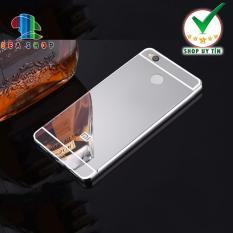 Ốp lưng Xiaomi Redmi 4X viền nhôm tráng gương (bạc)