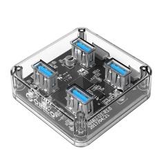 Hình ảnh ORICO MH4U-30 USB 3.0 Trong Suốt Để Bàn HUB 30 cm Cáp Micro USB-quốc tế