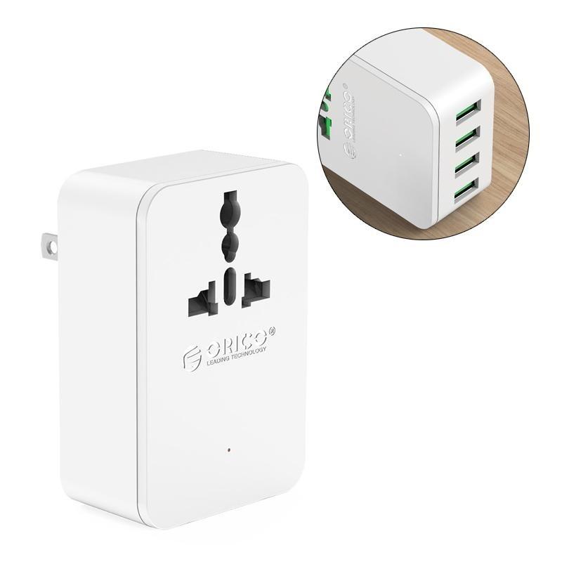 Bảng giá ORICO S4U 20 wát Ổ Cắm Điện đa năng Du Lịch Chuyển Đổi Adapter với 4 Cổng Sạc USB ÂU-quốc tế Phong Vũ