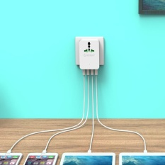 Hình ảnh ORICO S4U 20 wát Ổ Cắm Điện đa năng Du Lịch Chuyển Đổi Adapter với 4 Cổng Sạc USB MỸ-quốc tế
