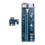 Dreamall PCI-E 1x to 16x Mining Machine Extender Riser Adapter with 15Pin-6Pin Cable - intl