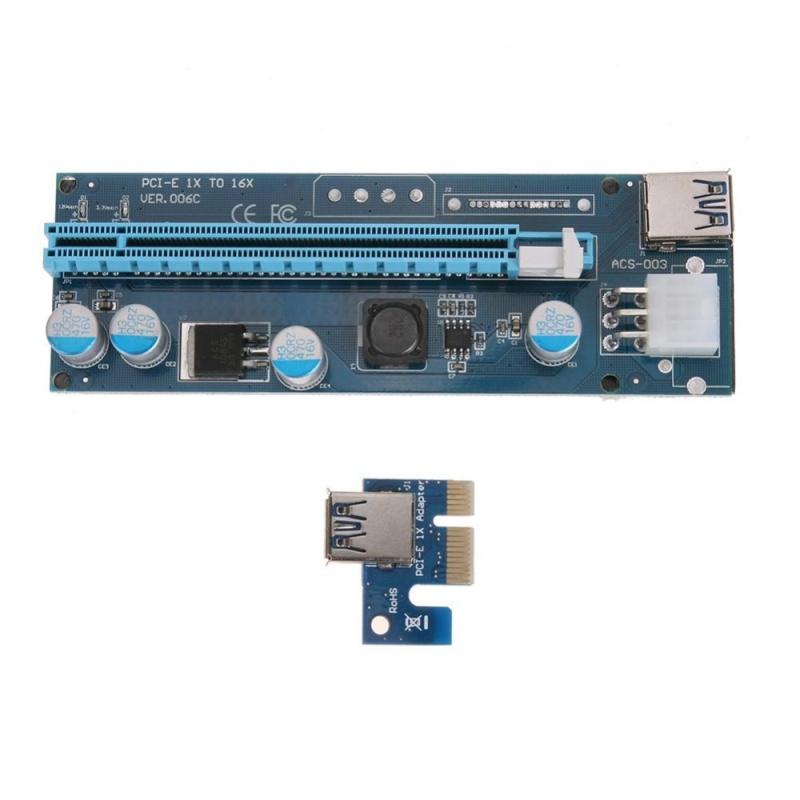Bảng giá PCI-E 1X để 16X Thẻ Mạch Mở Rộng Bộ Chuyển Đổi USB3.0 Cáp 15Pin-6Pin Cáp-quốc tế Phong Vũ
