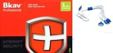 Hình ảnh Phần mềm diệt virut Bkav Pro Internet Security tặng kèm cáp sạc 4 đầu