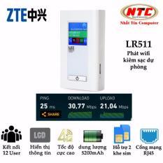 Ôn Tập Tốt Nhất Phat Song Wifi Cao Cấp Từ Sim 4G Lte Lr511A Kiem Sạc Dự Phong 5200Mah Trắng