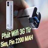 Chiết Khấu Phat Wifi Wcdma A3 Từ Sim 3G 4G Kiem Sạc Dự Phong Sieu Tiện Lợi Oem Trong Hà Nội