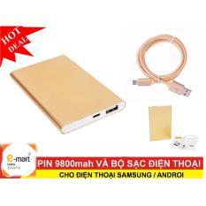 Pin 9800mah và bộ sạc cho điện thoại SAMSUNG / Androi