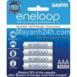 Ôn Tập Pin Eneloop Aaa Vỉ 4 Vien Trắng Sanyo