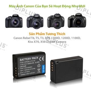 Pin máy ảnh Canon LP-E10 dành cho máy ảnh Canon EOS Rebel T3 T5 T6 Kiss X50 X70 EOS 1100D 1200D 1300D Digital Camera thumbnail