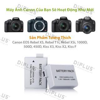 Pin máy ảnh Canon LP-E5 dành cho máy ảnh Canon EOS Rebel XS Rebel T1i Rebel XSi 1000D 500D, 450D X3 Kiss X2 Kiss F LPE5 thumbnail