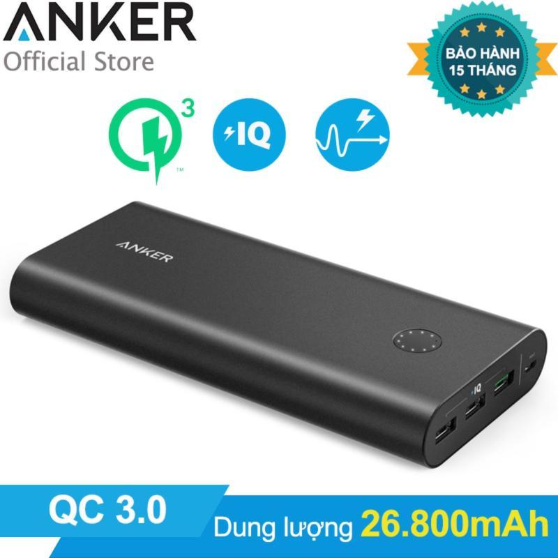 Giá Pin sạc dự phòng ANKER PowerCore+ 26800mAh Quick Charge 3.0 (Đen) - Hãng phân phối chính thức