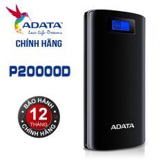 Hình ảnh Pin sạc dự phòng Cao cấp 20000mAh LCD ADATA P20000D (Đen) - Hãng Phân phối chính thức