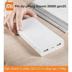 Giá Bán Pin Sạc Dự Phong Xiaomi 20000 Mah Gen2C Qc 3 Sạc Nhanh Hai Đầu Rẻ