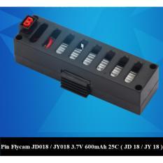 Hình ảnh Pin thay thế cho Flycam JD018 / JY018, 3.7V, 600mAh, 25C (Đen)