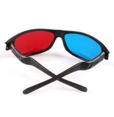 Hình ảnh Plasma TV Movie Dimensional Anaglyph Framed 3D Vision Game Red & Blue Glasses - intl