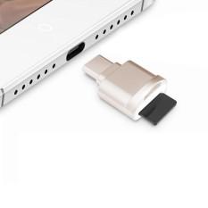 Hình ảnh POFAN F05 USB-C / Type-C 3.1 to Micro SD Card (TF Card) Reader Adapter for Macbook / Google Chromebook / Nokia N1 Tablet PC / OTG Function Smartphones(Gold) - intl
