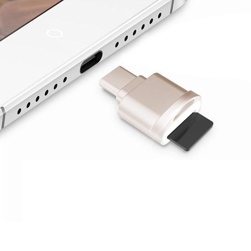 Bảng giá POFAN F05 USB-C / Type-C 3.1 to Micro SD Card (TF Card) Reader Adapter for Macbook / Google Chromebook / Nokia N1 Tablet PC / OTG Function Smartphones(Gold) - intl Phong Vũ