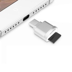 Hình ảnh POFAN F05 USB-C / Type-C 3.1 to Micro SD Card (TF Card) Reader Adapter for Macbook / Google Chromebook / Nokia N1 Tablet PC / OTG Function Smartphones(Silver) - intl